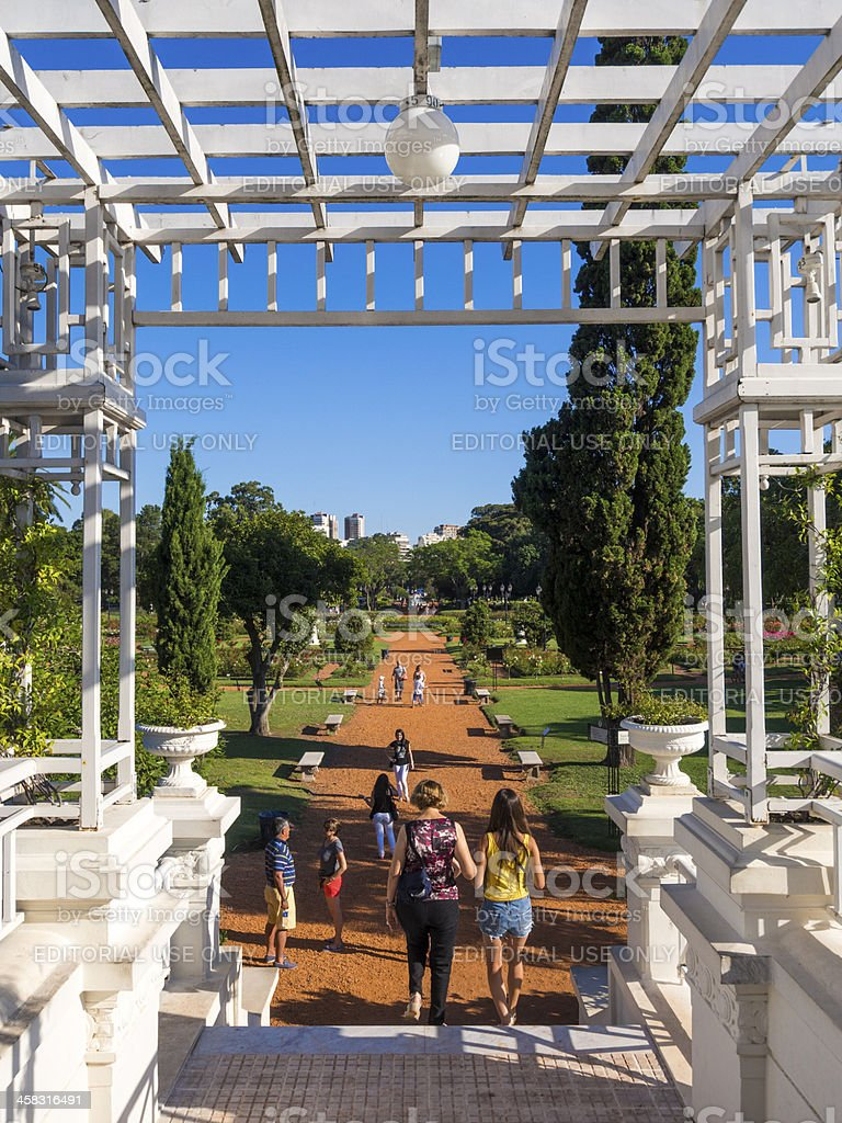 Bridge to The Rose Garden in February 3 Park royalty-free stock photo