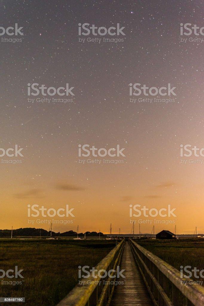 Bridge to the stars stock photo