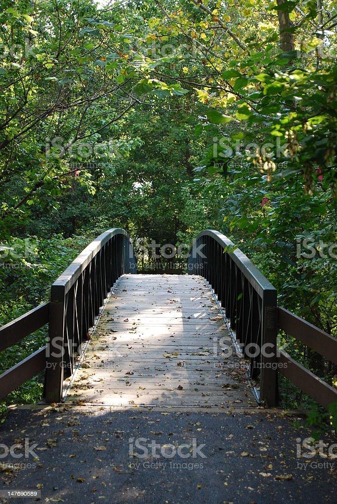Bridge to the unknown stock photo