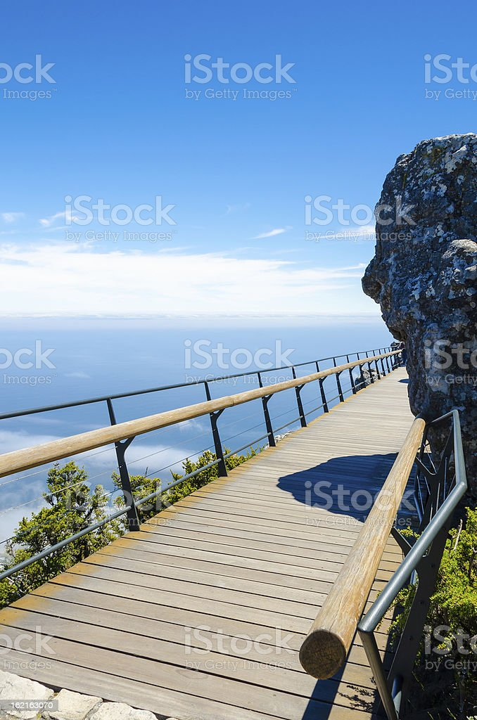 Bridge to upper cable station on Table Mountain royalty-free stock photo
