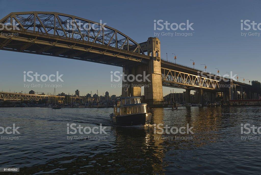 Bridge to Vancouver Down Town stock photo