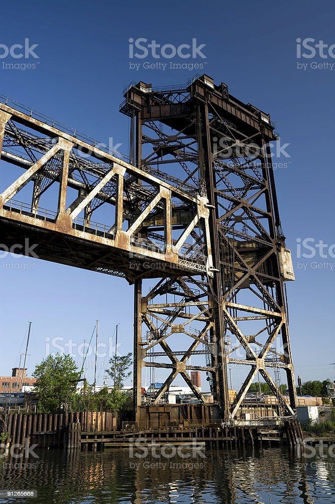 Bridge Tower on the Chicago River royalty-free stock photo