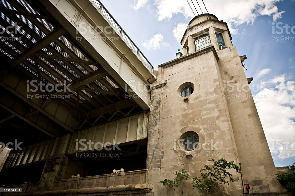 Bridge tower royalty-free stock photo