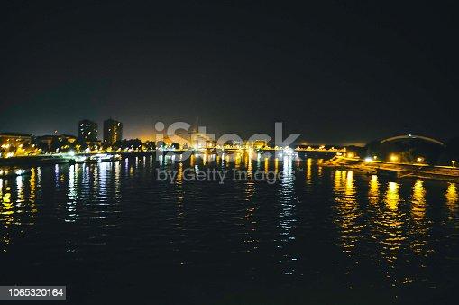 544101220 istock photo Bridge traffic at night 1065320164