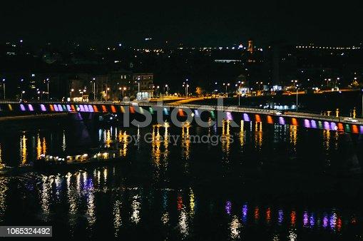 544101220 istock photo Bridge traffic at night 1065324492