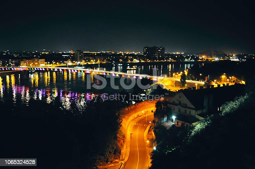544101220 istock photo Bridge traffic at night 1065324528