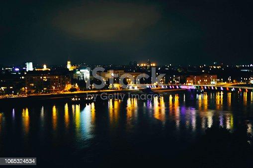 544101220 istock photo Bridge traffic at night 1065324534