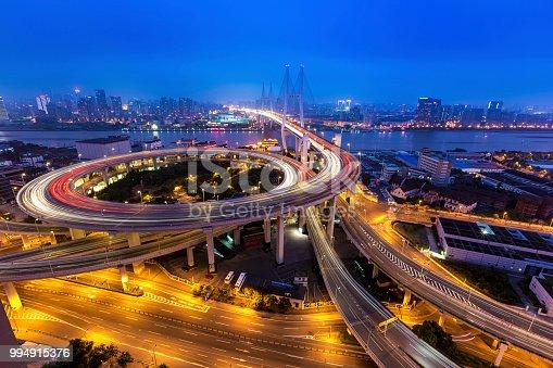 544101220 istock photo Bridge traffic at night 994915376