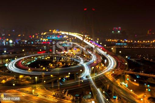 544101220 istock photo Bridge traffic at night 994915388
