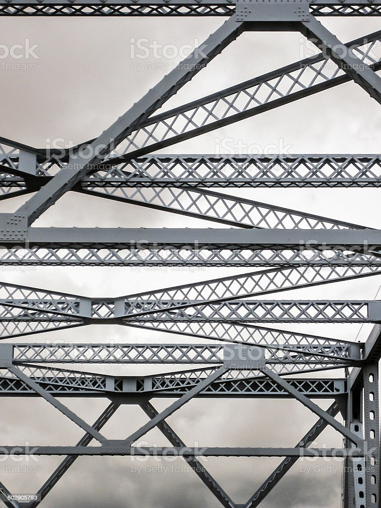 Bridge truss stock photo