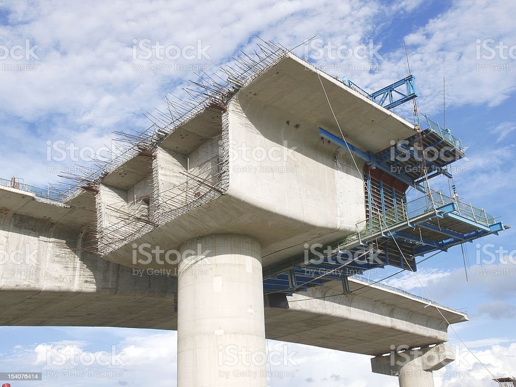 Bridge under construction stock photo