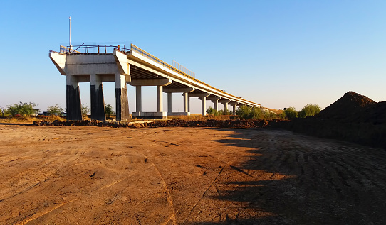 View of bridge under construction