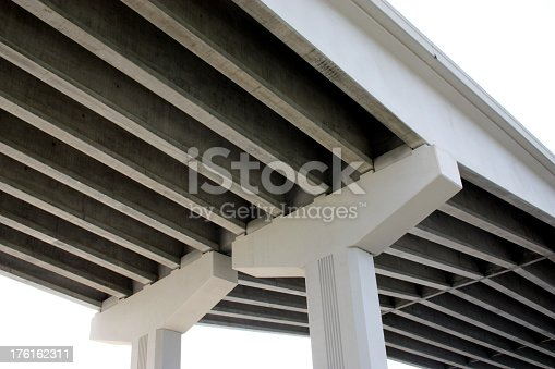 Large Underside Of Concrete Bridge