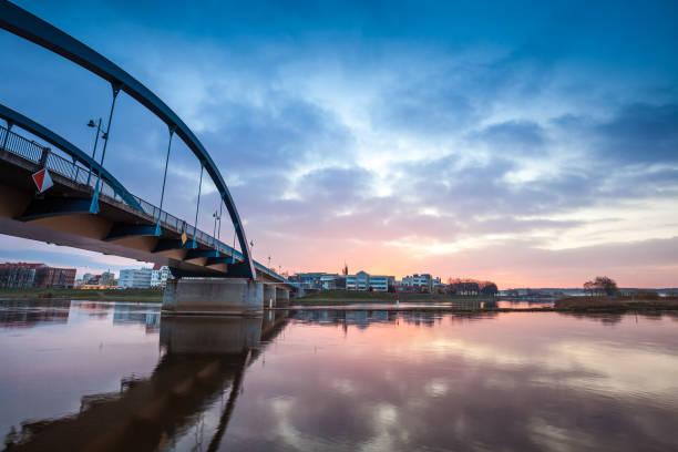 Bridge vibrant sunrise stock photo