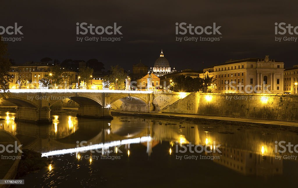 Ponte Vittorio Emanuele II royalty-free stock photo