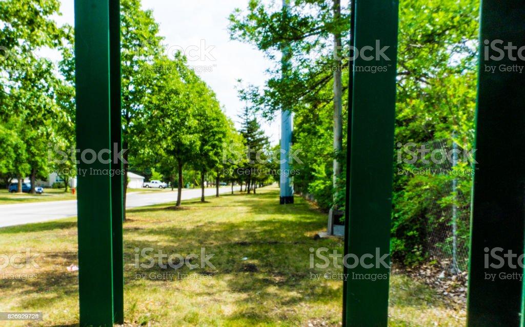 Bridge Walkway Beams stock photo