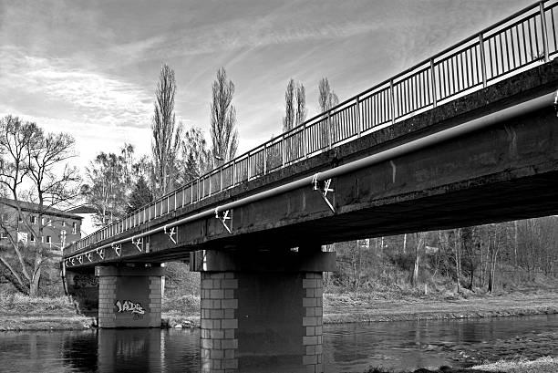Bridge with Graffiti stock photo