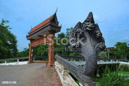 Bridge with Naga statue in Siem Reap, Cambodia