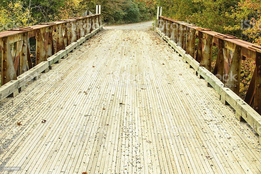Bridge with unique construction stock photo