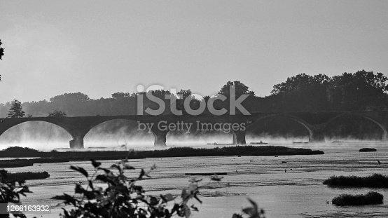 Bridge-Black & White -RR Bridge-Built 1848-Maumee River-Waterville Ohio