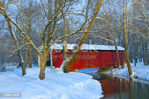 Bridge-Covered Bridge over Wildcat Creek-Kokomo Indiana