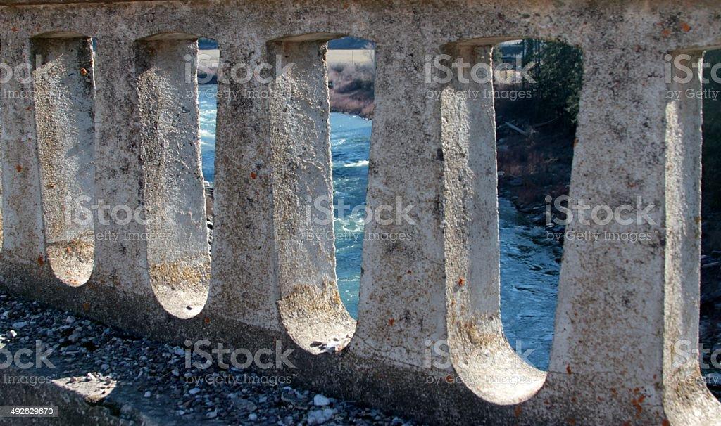 Bridged view. stock photo