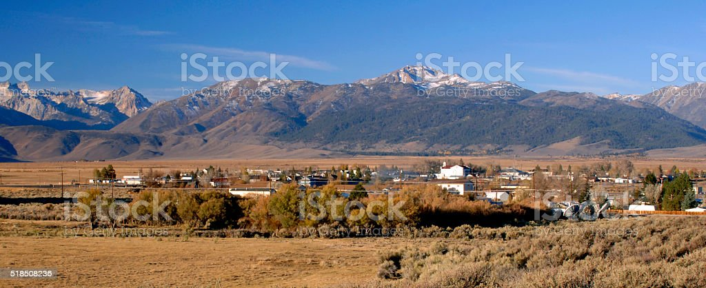 Bridgeport, California with Sierras in Background stock photo
