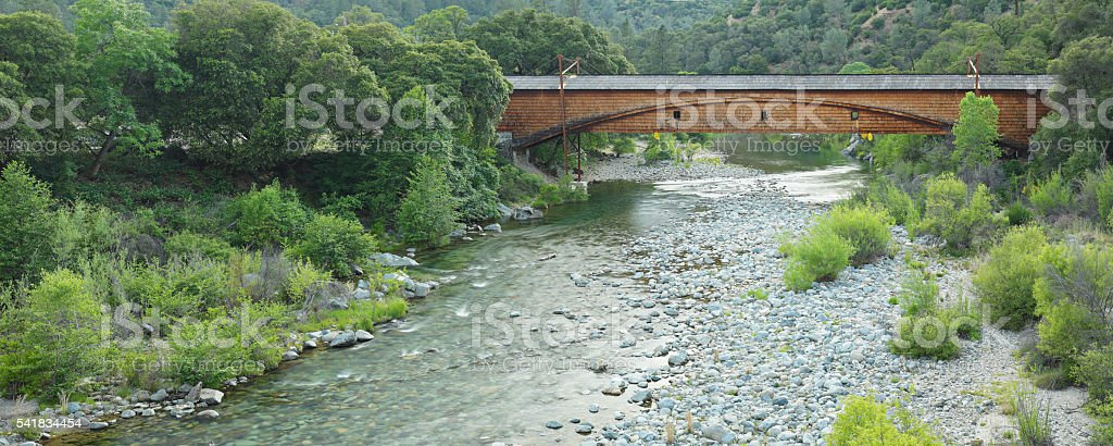 Bridgeport Covered Bridge stock photo