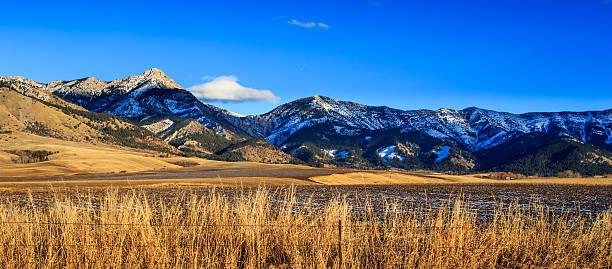 bridger mountain range. - montana western usa stock pictures, royalty-free photos & images
