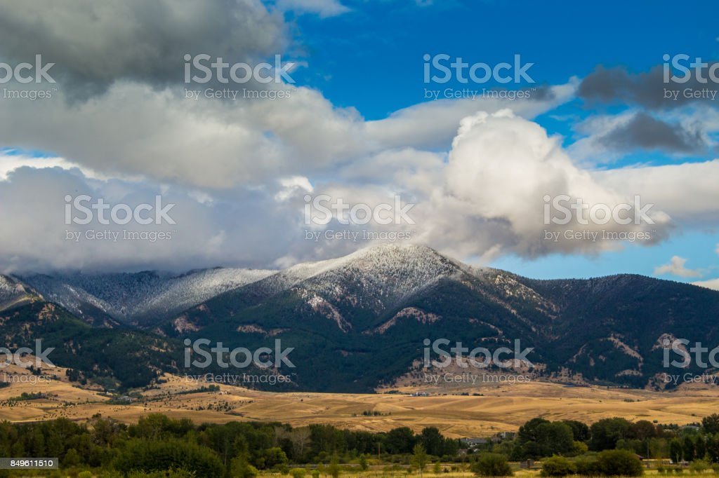 Bridger Peaks stock photo