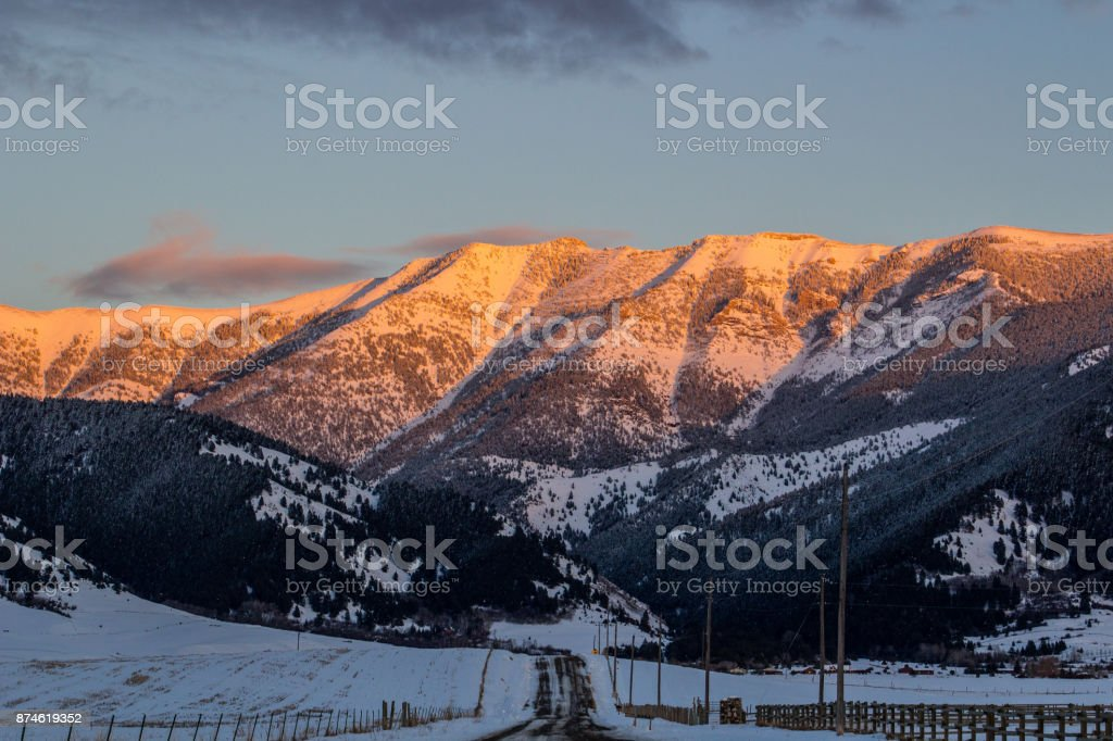 Bridger Road Landscape stock photo