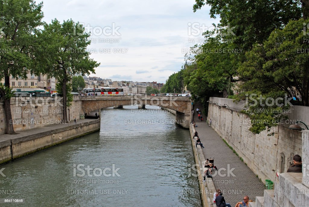 Bridges and embankments of the Seine. royalty-free stock photo