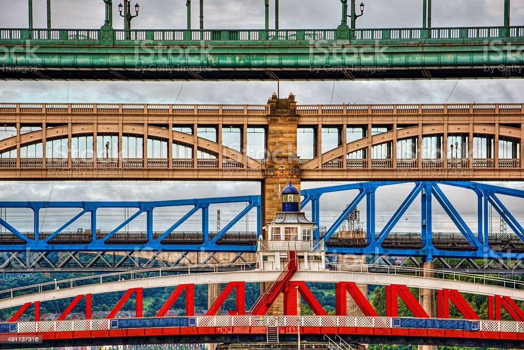 Bridges HDR stock photo