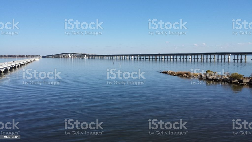 Bridges in Biloxi, Mississippi stock photo