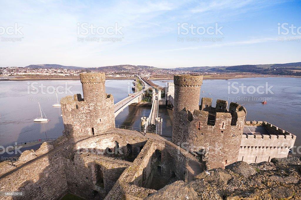 Bridges of Conwy stock photo