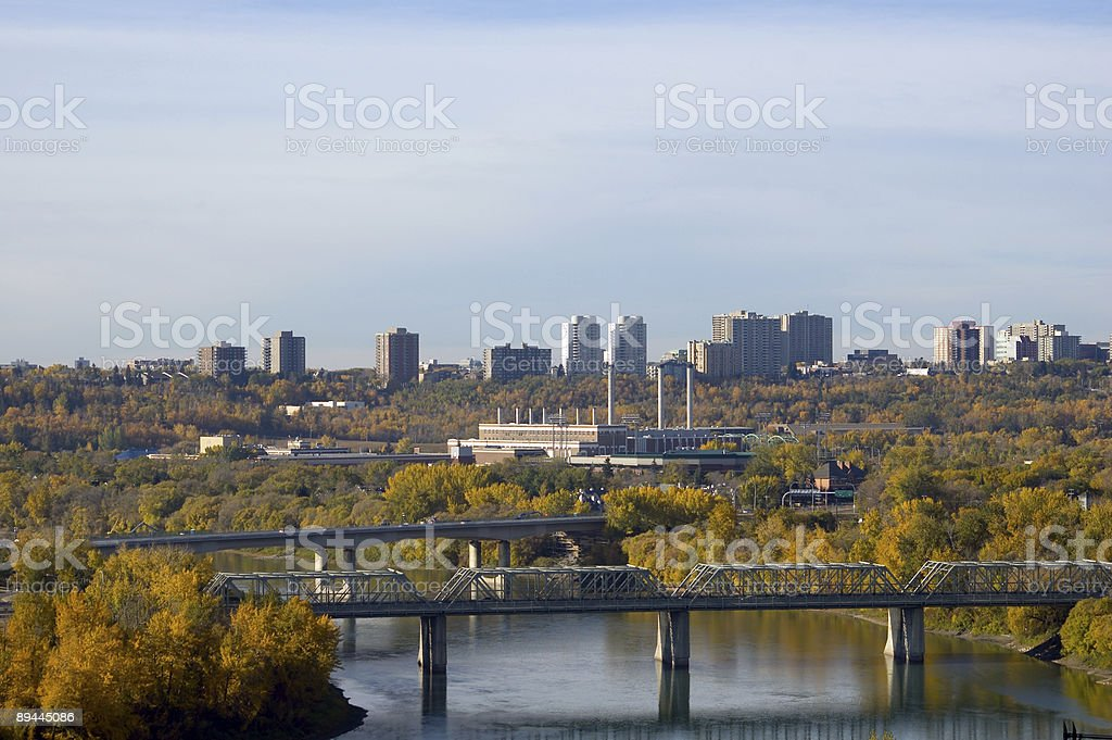 Bridges of Edmonton royalty-free stock photo