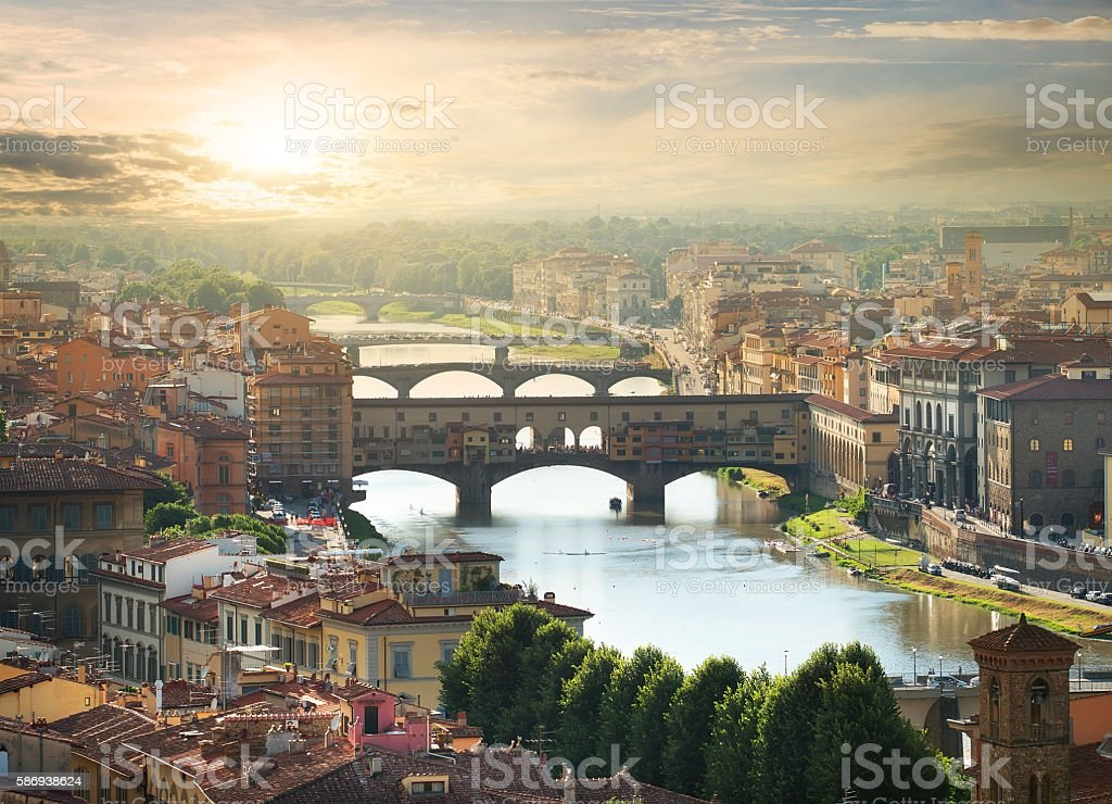 Bridges of Florence stock photo