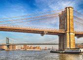 Three bridges of New York City - HDR image.