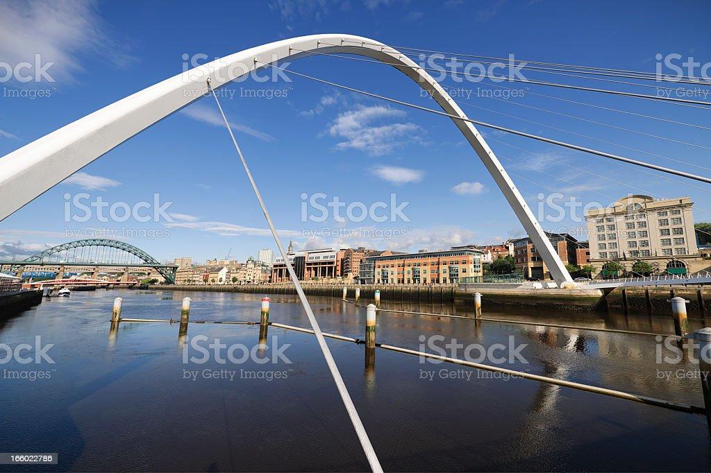Bridges of Newcastle stock photo