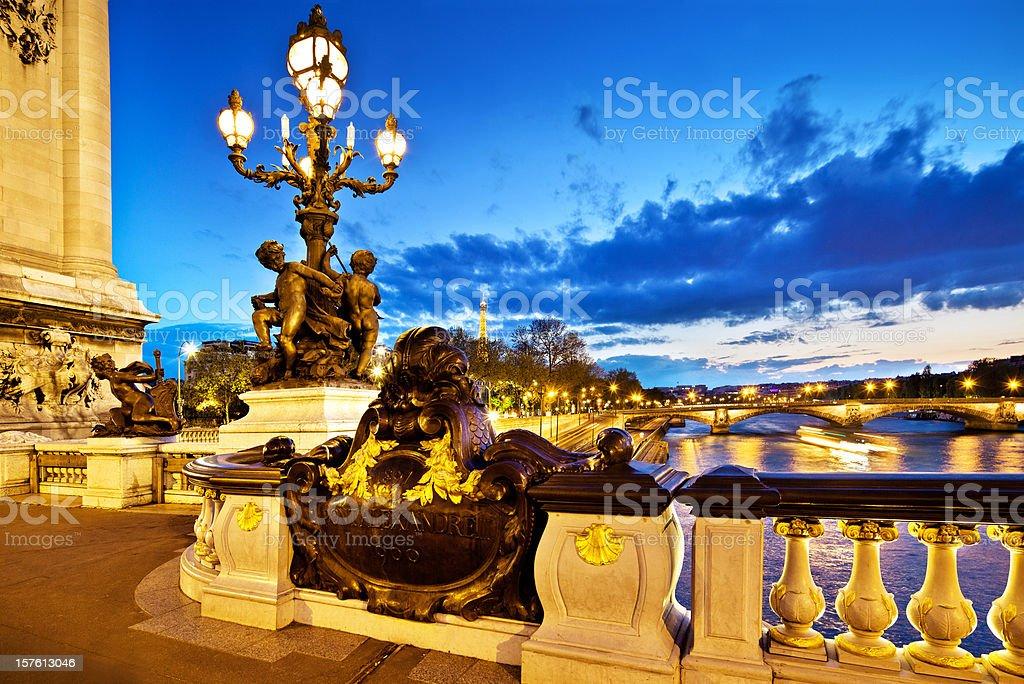Bridges of Paris stock photo