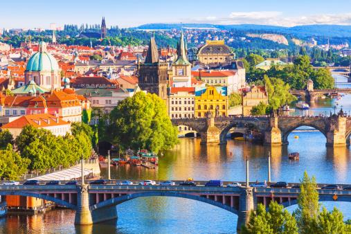 Bridges Of Prague Czech Republic Stock Photo - Download Image Now