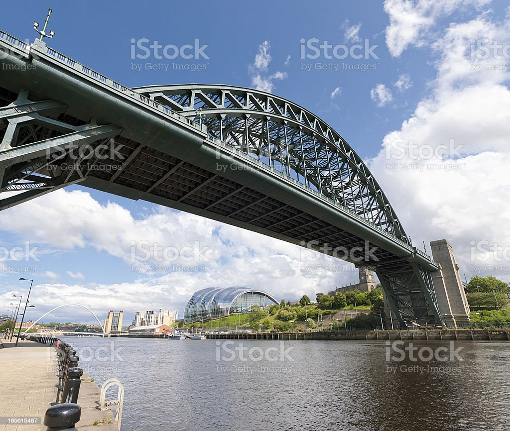 Bridges over the Tyne connecting Newcastle and Gateshead stock photo
