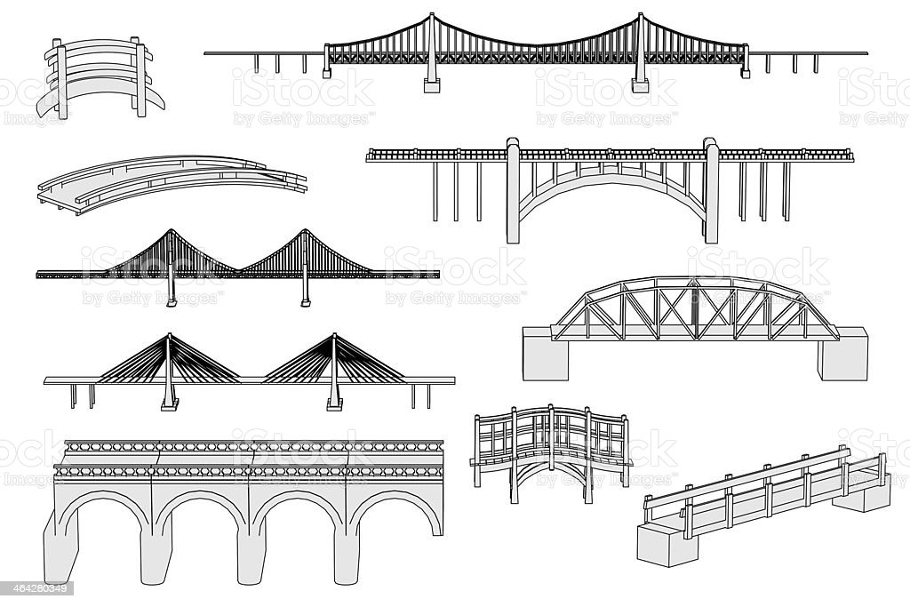 bridges set stock photo