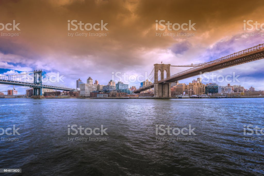 Bridges to Brooklyn stock photo