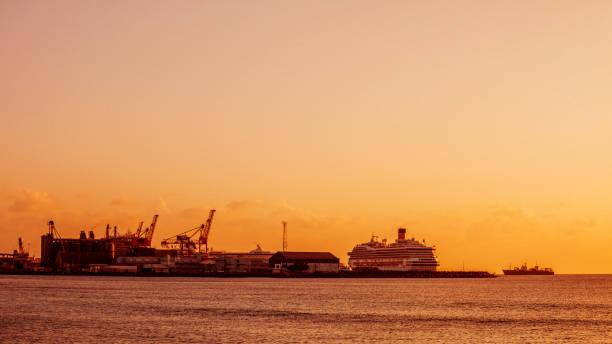 Bridgetown harbor, Barbados stock photo