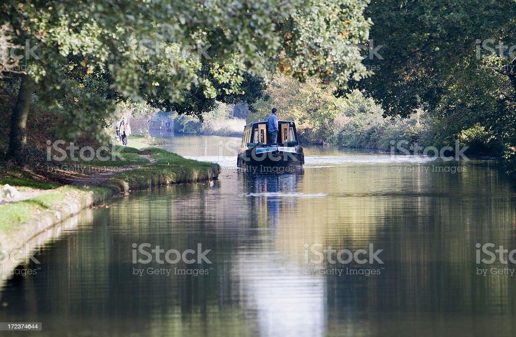 Bridgewater Canal, Moore, Cheshire royalty-free stock photo