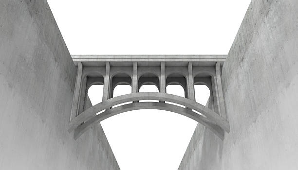 Bridging the abyss stock photo