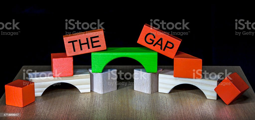Bridging the Gap - business, education, meeting, PR, politics stock photo