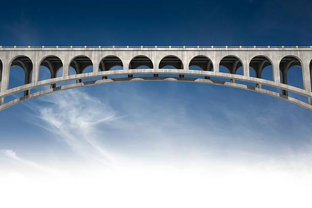 bridging the gap stock photo