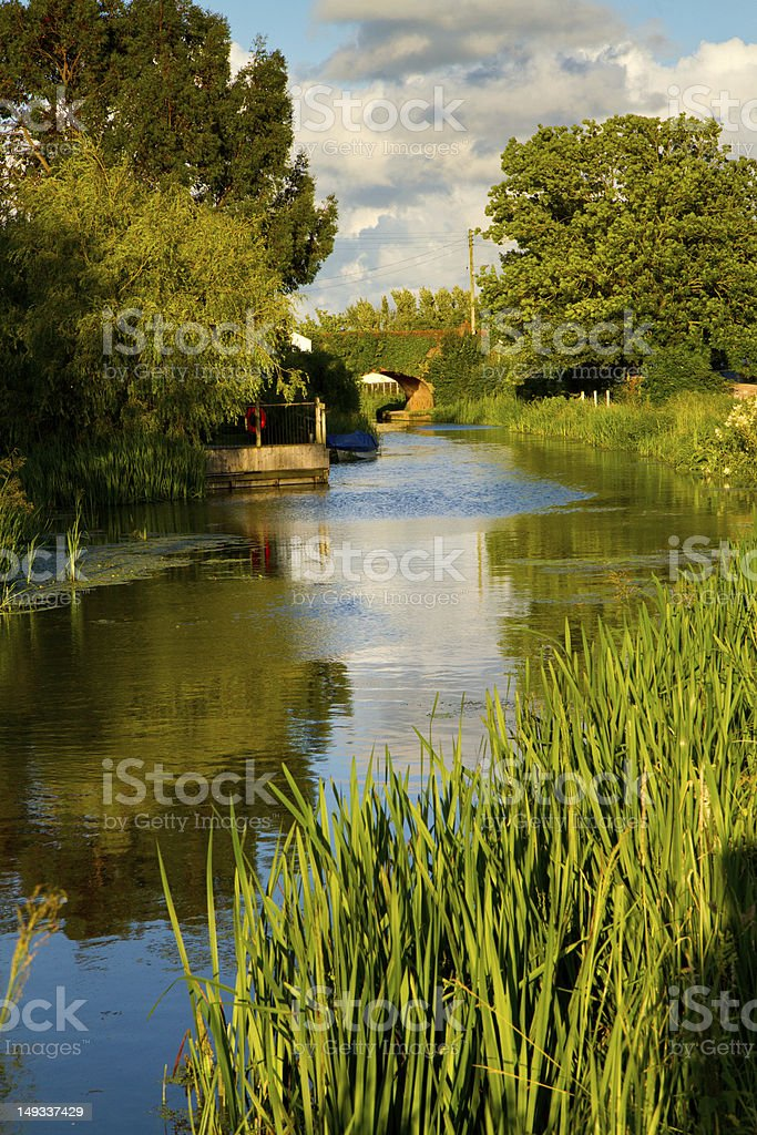 Bridgwater and Taunton Canal Somerset England stock photo